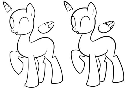 mlp pony template www imgkid com the image kid has it