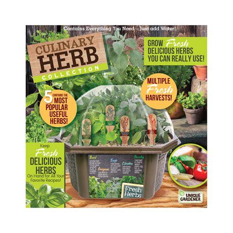 unique gardener culinary herb collection indoor micro