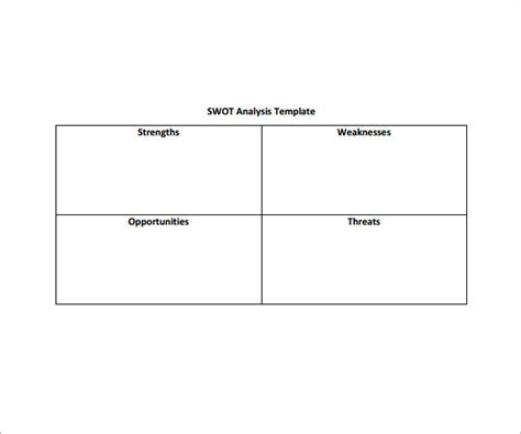 swot analysis template word editable swot matrix templates for word vlashed