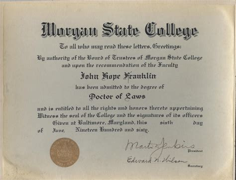 Morehouse College Letterhead abc s of franklin h honorary degrees the