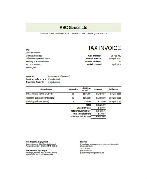 professional invoices template professional invoice template 8 free word excel pdf
