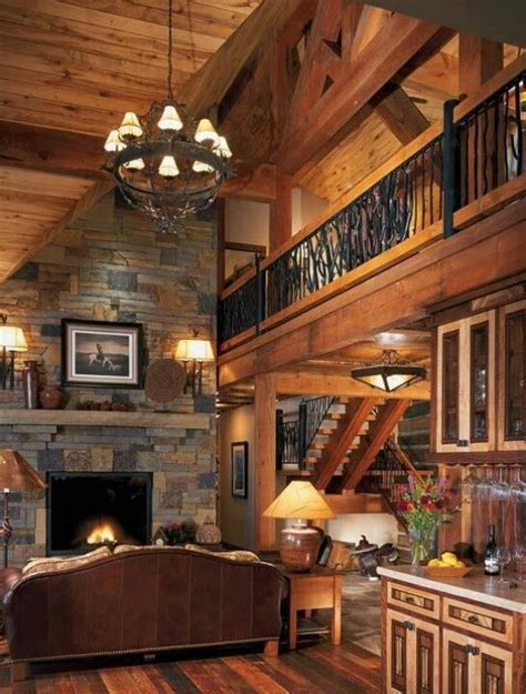 Beautiful Log Home Interiors Beautiful Interior For A Log Cabin My Wish List Pinterest