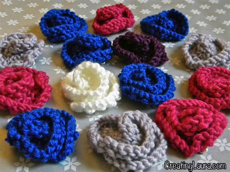knitted flowers creating knitted flowers