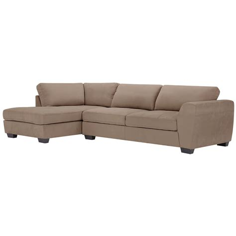 microfiber chaise sectional city furniture perry dark taupe microfiber left chaise