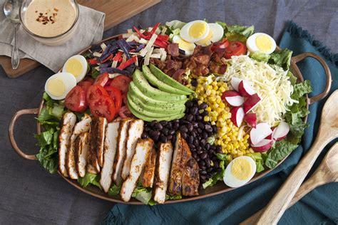 Fast Easy Dinner Black Bean Cobb Salad by Southwestern Cobb Salad