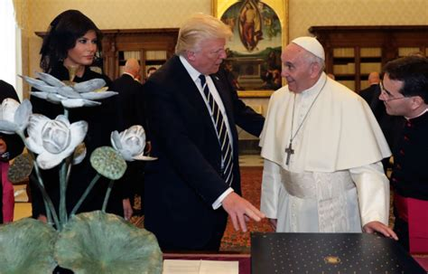 trump pope francis trumps official gift to the pope the electoral map