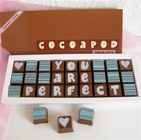 personalised chocolates in medium box by chocolate by