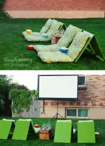 Outdoor movie theater seating not just a housewife