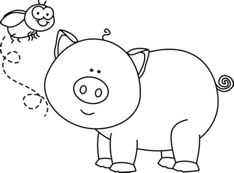 pig clipart black and white black and white fly and pig clip black and white fly