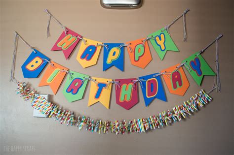 How To Make A Happy Birthday Banner Of Paper - lego birthday the happy scraps