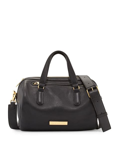 Marc Seventies Combo Satchel by Marc By Marc Leather Satchel Bag In Black Lyst