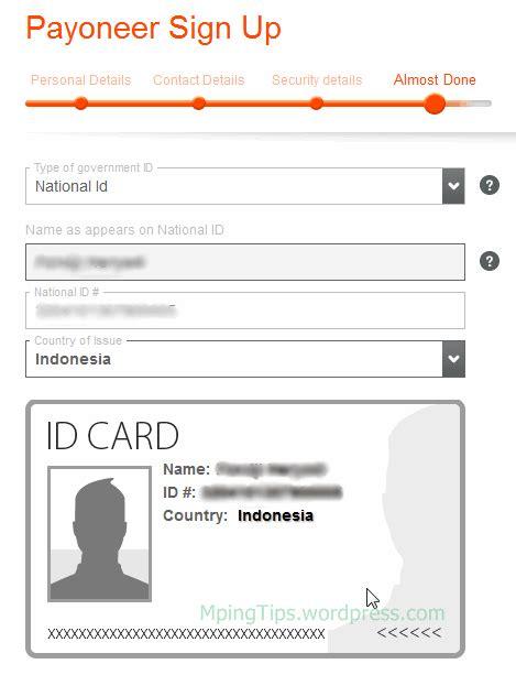 buat kartu kredit payoneer cara mendaftar mendapatkan kartu kredit master card