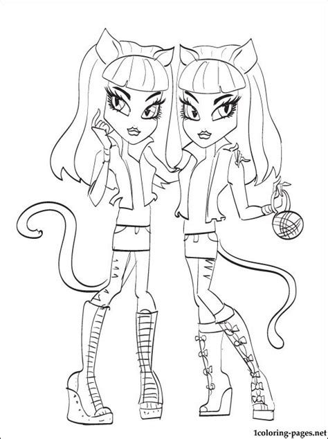 purrsephone monster high doll coloring pages