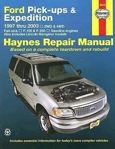 haynes ford pick ups expedition lincoln navigator repair manual  ebay