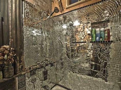 broken bathroom mirror broken mirror shower mosaic ideas mosaics