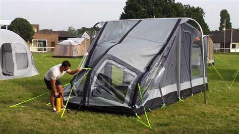 caravan air awnings ka rally air inflatable caravan awning youtube