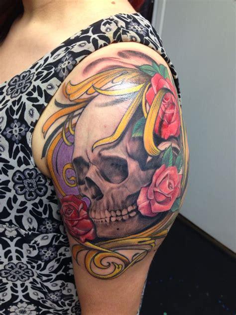 la mancha tattoo skull by sandoval la mancha tattooz san diego