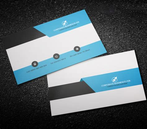 Front And Back Business Card Template Photoshop by Corporate Business Card Template