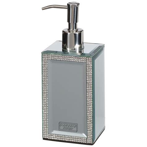 soap dispensers for bathroom mirrored diamante soap dispenser home bathroom b m