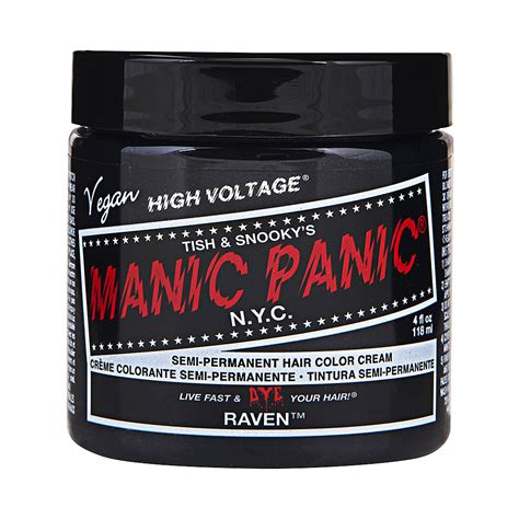 manic panic hair colors manic panic high voltage classic black hair dye