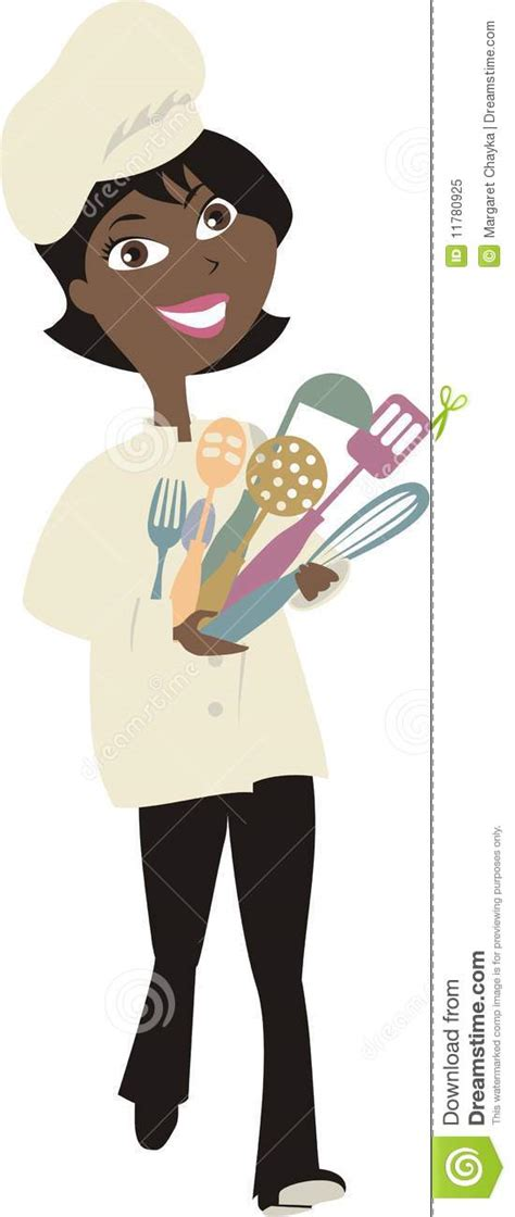 african american woman chef cooking utensils  royalty