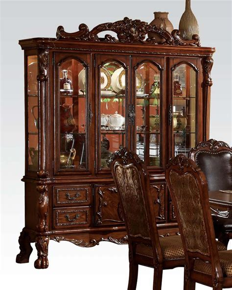 Dresden Furniture by Buffet W Hutch Dresden Cherry By Acme Furniture Ac12155