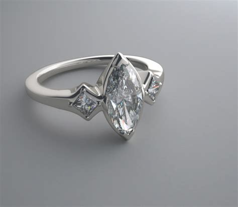 modern marquise ring settings