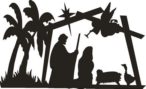 nativity silhouette patterns clipart best