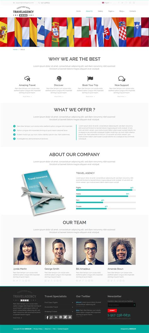 travel agency html template travel agency html template on behance