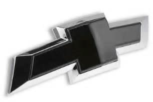 2015 2017 tahoe rear insert black bowtie emblem chevymall