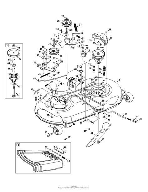 mtd mower deck diagram mtd 13al78st099 247 288851 2011 parts diagram for