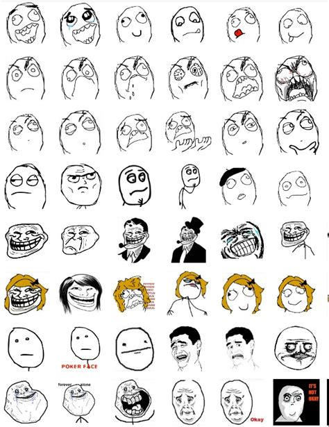 Meme Faces Comics - meme faces list meaning image memes at relatably com