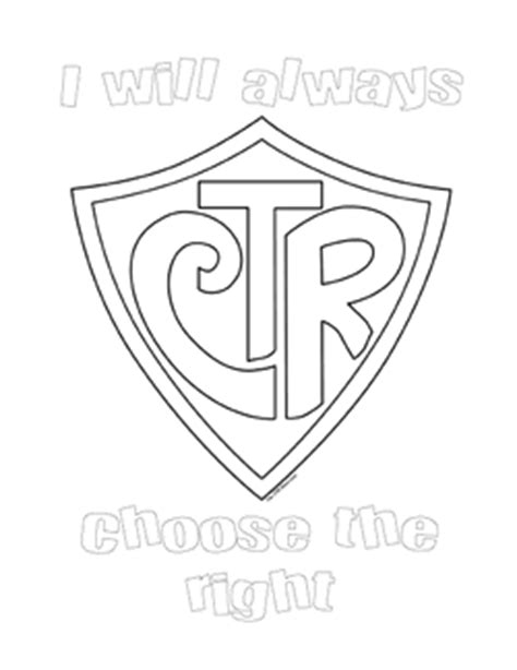 Ctr Shield Coloring Sheet Pdf Ctr Coloring Page