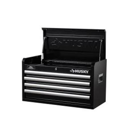 husky 26 in wide 4 drawer tool chest black h4ch1r the