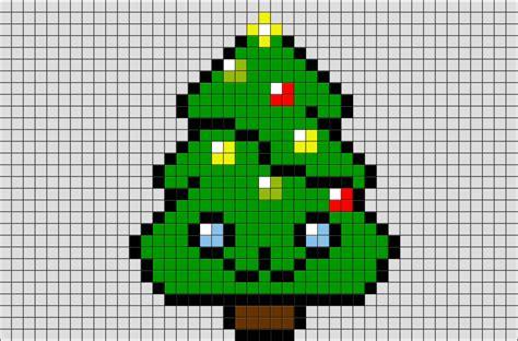 cute christmas tree pixel art brik