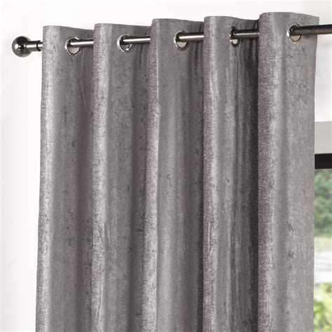 velvet eyelet curtains sundour velvet lined eyelet curtains grey