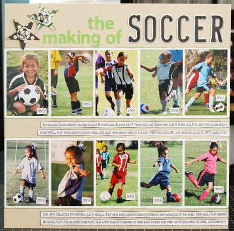 scrapbook layout soccer 17 best images about ascrapbook sports on pinterest
