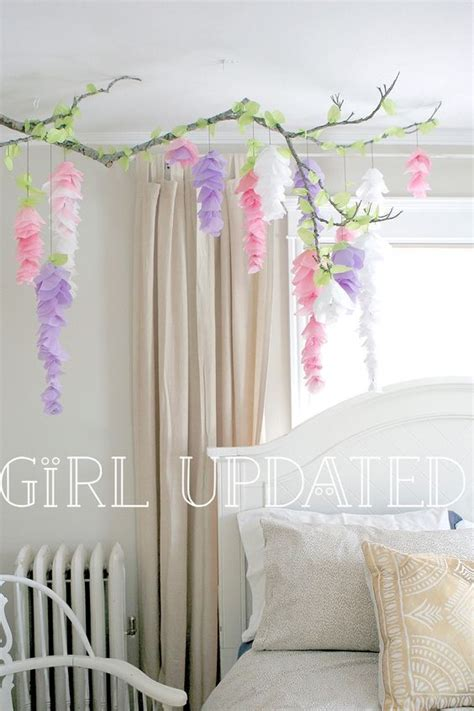 hanging paper flower tutorial hanging paper wisteria tutorial templates branch decor