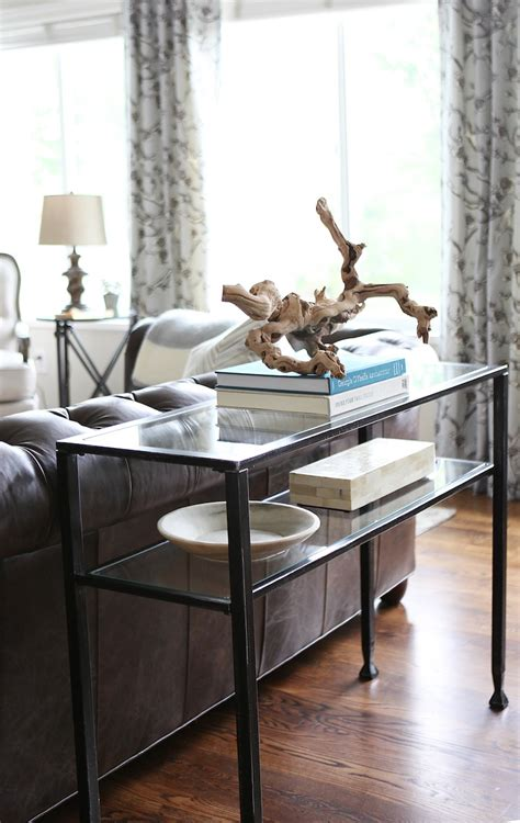 Living Room Sofa Table How To Style A Console Table