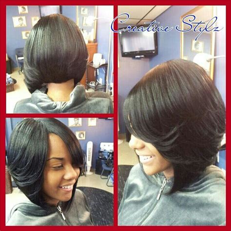 full sew in mohawk short hairstyles on pinterest black women bobs and razor