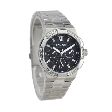 Jam Tangan Balmer Bl 7932 Silver Black Jam Chrono Original Jam harga balmer swarovsky 5h490bl7900lslvh crhonodate jam tangan wanita silver pricenia