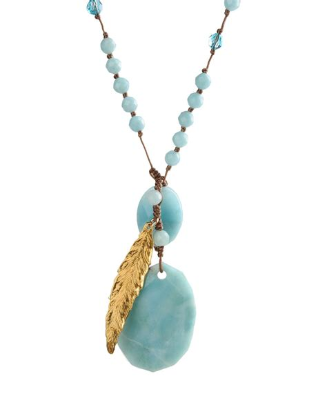 chan luu necklace in blue turquoise lyst
