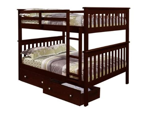 bunk bed with drawers underneath gt cheap bunk bed full over full with under bed drawers