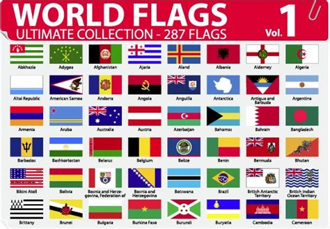 flags of the world vector eps various of world flags vector set 04 vector other free