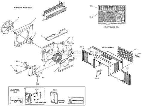 fedders window air conditioner model a6q10f2a parts for a6q10f2a d fedders air conditioners