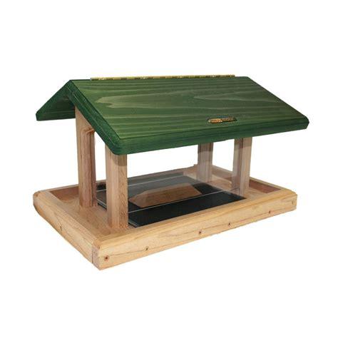 shop birds choice cedar 6 quart hopper bird feeder at