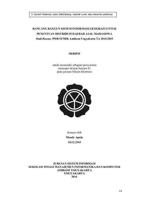 format penulisan judul skripsi pedoman penyusunan penulisan proposal penelitian dan skripsi