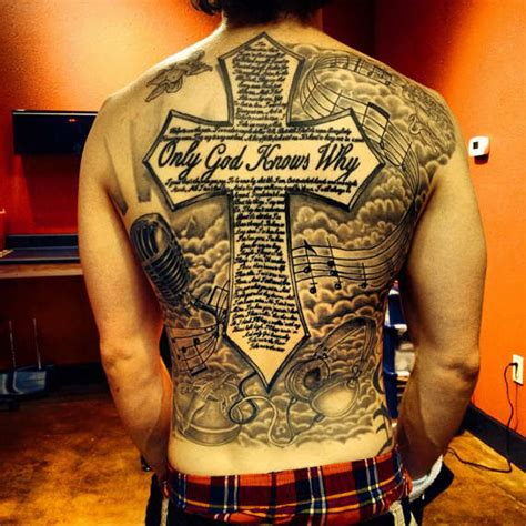 full back cross tattoos 98 best cross tattoos and designs for and