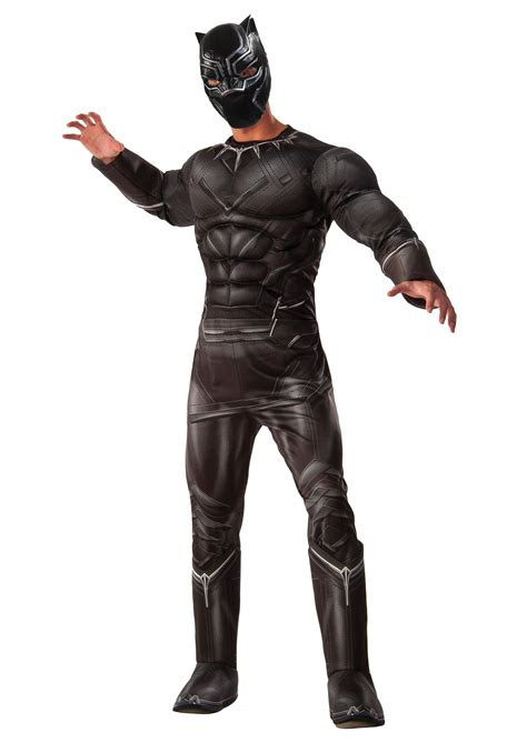 jaguar costume men s deluxe civil war black panther costume