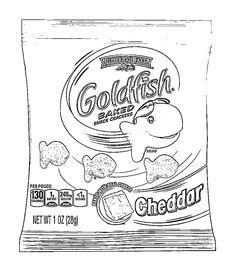 Goldfish Cracker Coloring Page